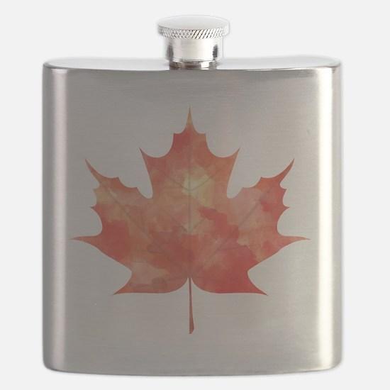Maple Leaf Art Flask
