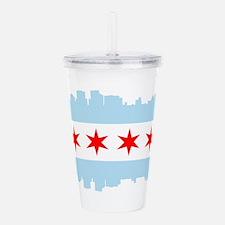 Chicago Flag Skyline Acrylic Double-wall Tumbler