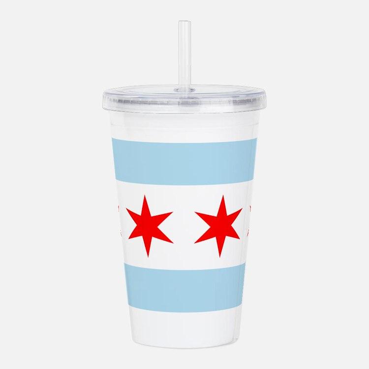 Flag of Chicago Acrylic Double-wall Tumbler
