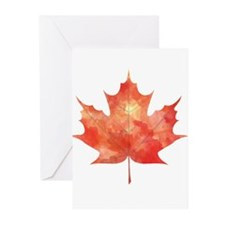 Maple Leaf Art Greeting Cards (Pk of 20)