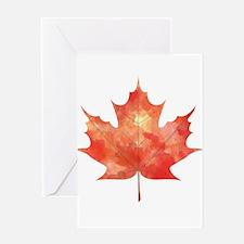 Maple Leaf Art Greeting Card