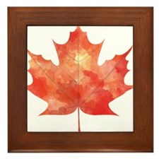 Maple Leaf Art Framed Tile