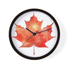 Maple Leaf Art Wall Clock