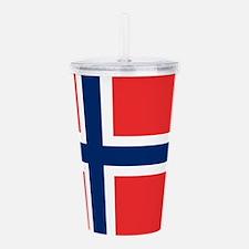 Flag of Norway Acrylic Double-wall Tumbler
