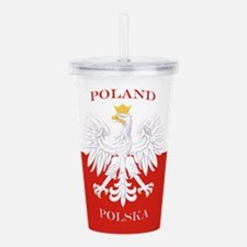 Poland Polska White Eagle Flag Acrylic Double-wall