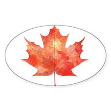 Maple Leaf Art Bumper Stickers