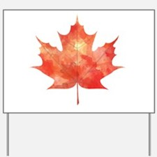 Maple Leaf Art Yard Sign