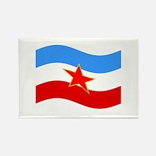 Waving Yugoslavia Flag Magnets