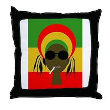 Rasta Queen Throw Pillow