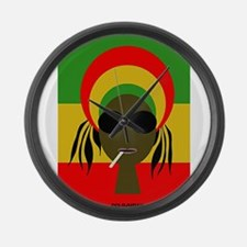 Rasta Queen Large Wall Clock