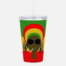Rasta Queen Acrylic Double-wall Tumbler