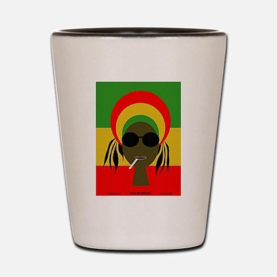 Rasta Queen Shot Glass
