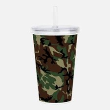 Camouflage Pattern Acrylic Double-wall Tumbler