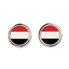 Yemen Flag Round Cufflinks