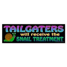 Snail Treatment (sticker) Bumper Bumper Sticker