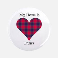 "Heart - Fraser 3.5"" Button"