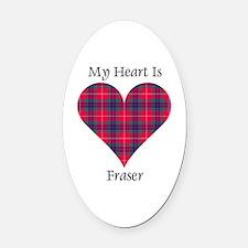 Heart - Fraser Oval Car Magnet