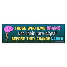 Brain Lane (sticker) Bumper Bumper Stickers