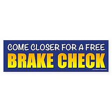 Brake Check (sticker) Bumper Bumper Sticker