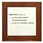 Mentor Definition Framed Tile