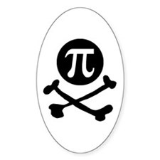Pi-rate Oval Decal