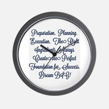 Foundation for Success Wall Clock