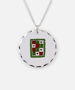 Christmas Quilt Necklace