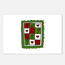 Christmas Quilt Postcards (Package of 8)