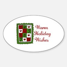 Warm Holiday Wishes Decal