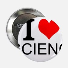 """I Love Science 2.25"""" Button (10 pack)"""