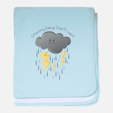 Stormy Days Don't Last baby blanket