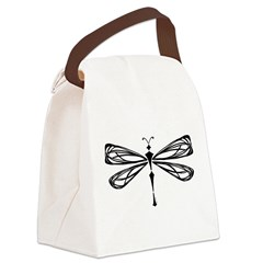 Deco Dragonfly Canvas Lunch Bag