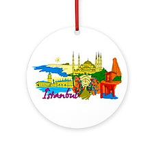 Istanbul - Turkey Ornament (Round)