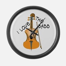 I Love The Bass Large Wall Clock