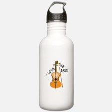 I Love The Bass Water Bottle