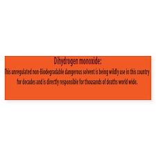 Dihydrogen Monoxide Bumper Bumper Sticker