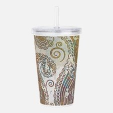 vintage color paisley Acrylic Double-wall Tumbler