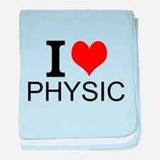 I Love Physics baby blanket