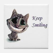 Keep Smiling Tile Coaster