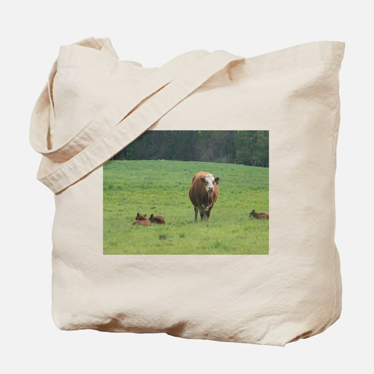 Cow and Calves Tote Bag