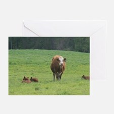 Cow and Calves Greeting Cards (Pk of 10)