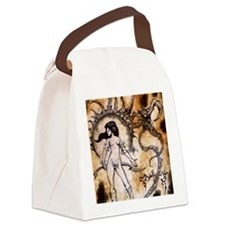 Black Sun Sorceress Canvas Lunch Bag