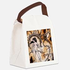 Black Sun Sorceress Canvas Lunch Bag