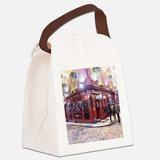 Temple Bar Dublin, Ireland Canvas Lunch Bag
