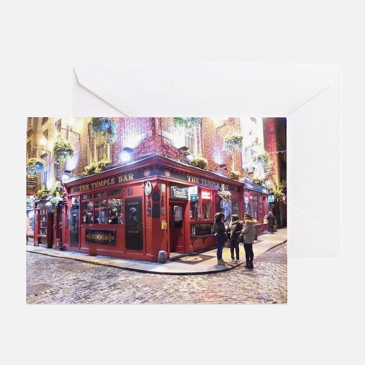 Temple Bar Dublin, Ireland Greeting Card