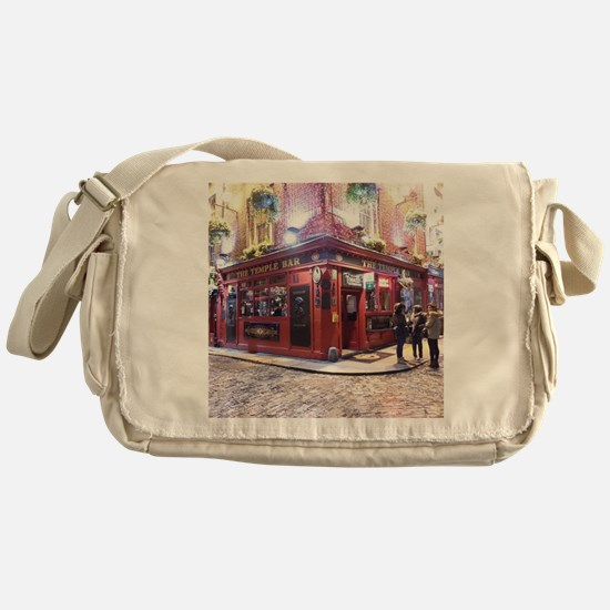 Temple Bar Dublin, Ireland Messenger Bag