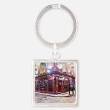 Temple Bar Dublin, Ireland Square Keychain