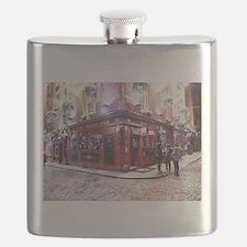 Temple Bar Dublin, Ireland Flask