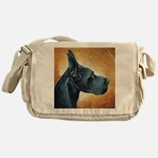 Great Dane Black Messenger Bag