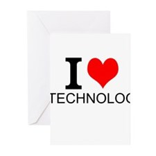 I Love Technology Greeting Cards